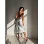 Шелковое платье комбинация с открытой спиной