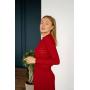Ажурное вязаное платье миди