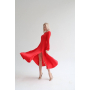 Шелковое платье миди с разрезом