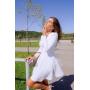 Трикотажное платье мини с юбкой солнце