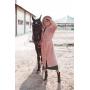 Пудровая зимняя шуба хаки свободного кроя TM Estilo Diani