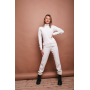 Белый бесшовный кашемировый костюм TM Estilo Diani
