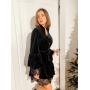 Черное бархатное платье с кружевом TM Estilo Diani