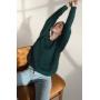 Изумрудный пушистый свитер из Ангоры Estilo Diani