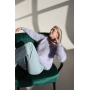 Лавандовый пушистый свитер из Ангоры Estilo Diani