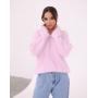 Розовый пушистый свитер из Ангоры Estilo Diani