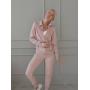 Розовый костюм на молнии с люрексом Estilo Diani