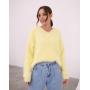 Желтый пушистый свитер из Ангоры Estilo Diani