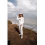 Белый кашемировый костюм с карманом TM Estilo Diani