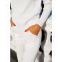 Белый вязаный костюм из итальянского хлопка