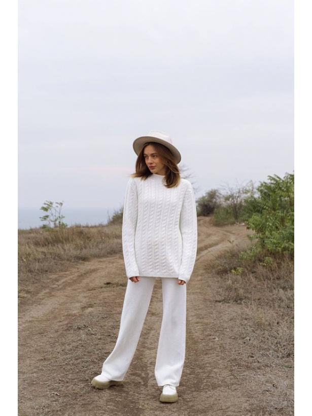 Бесшовный белый вязаный костюм TM Estilo Diani