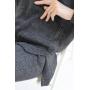 Графитовый вязаный костюм с объемным свитером