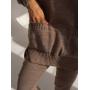 Кофейный вязаный костюм с объемным свитером TM Estilo Diani