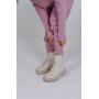 Лиловый вязаный костюм в рубчик TM Estilo Diani
