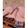 Пудровый шерстяной костюм с плетением в косы Estilo Diani