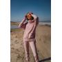 Пудровый вязаный костюм с объемным свитером TM Estilo Diani