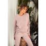 Розовый шерстяной вязаный костюм с V вырезом TM Estilo Diani