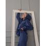 Синий замшевый костюм с капюшоном TM Estilo Diani