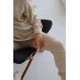 Светло-бежевый вязаный костюм с объемным свитером TM Estilo Diani