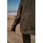 Замшевый костюм хаки с капюшоном TM Estilo Diani