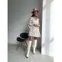 Белое платье мини в цветочный принт