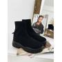 Черные ботинки чулки на платформе Италия