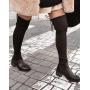 Черные текстильные ботфорты чулки Италия
