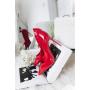 Красные туфли лодочки на шпильках Италия