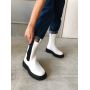 Белые высокие ботинки челси Италия