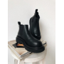 Черные ботинки челси Италия