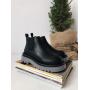 Черные ботинки челси на серой подошве Италия