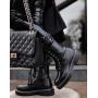 Черные ботинки под крокодила Италия