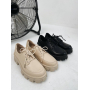 Черные туфли броги Италия