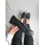 Черные туфли лоферы из натуральной кожи