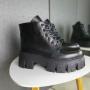 Ботинки на платформе из натуральной кожи