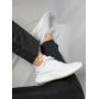 Белые текстильные дышащие кроссовки