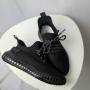 Черные текстильные кроссовки