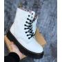 Зимние белые ботинки Dr. Martens x LV Jadon