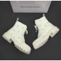 Белые ботинки Balenciaga All Over Logo