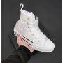 Белые высокие дышащие кеды Christian Dior
