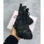 Черные ботинки Balenciaga All Over Logo