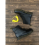 Зимние черные кожаные ботинки Dr. Martens 1460
