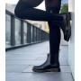 Зимние черные кожаные ботинки челси Dr. Martens