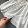 Белое платье туника с кружевом