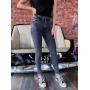 Серые джинсы варенки скинни