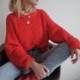 Объемный свитер крупной вязки RIA