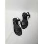 Черные кожаные босоножки на плоском ходу