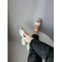 Белые кожаные босоножки на спортивной платформе