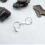 Серебряные серьги с фактурными подвесками