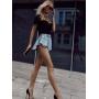 Короткие джинсовые шорты юбка